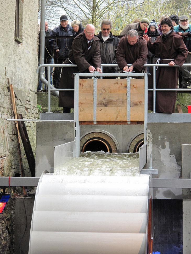 Ein bewegender und glücklicher Moment für die Mönchmühle. 2012 (Günter Klein)
