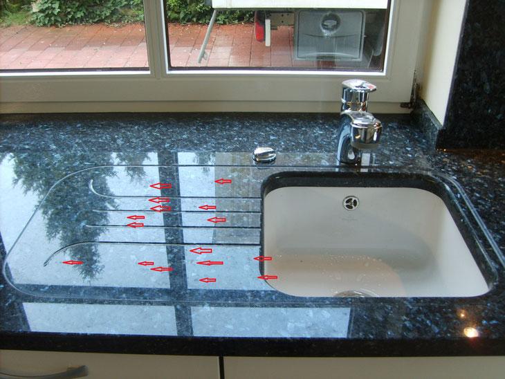 Die Granitarbeitsplatte in der Küche - moebelschlau