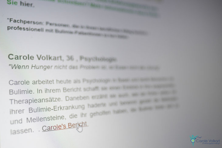 Bulimie, Binge Eating, Psychologin, Basel, Carole Volkart, Erfahrungsbericht, emotionales Essen, achtsam essen, Essanfälle, Fressattacken, Beratung, Therapie, Essstörungen