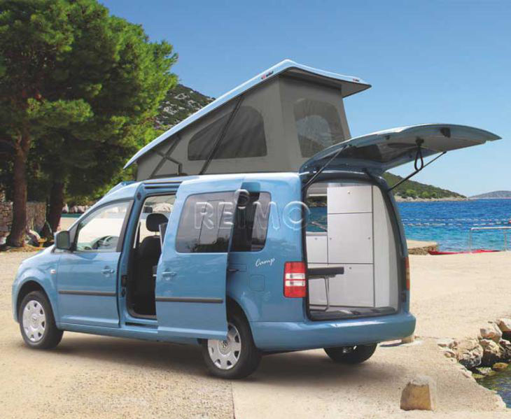 VW Caddy with Camper roof conversion