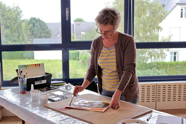 L'aquarelliste Martine SAINT ELLIER, peintre dans la vallée de la Loire