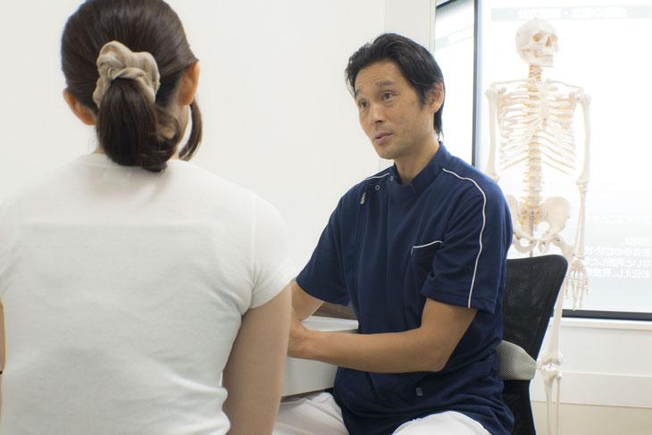 カウンセリングと検査によって、腰痛の根本的原因を解明して施術をおこないます。
