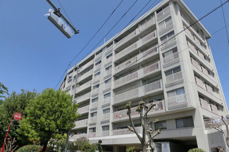 狛江市の中古マンション 狛江リリエンハイム【7階・3LDK・69.83㎡】 外観