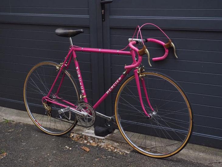 vélo mercier rose vintage