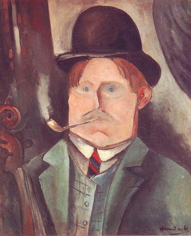 Maurice de Vlaminck - Autoportrait - 1911 (Portrait de l'artiste (à la pipe))