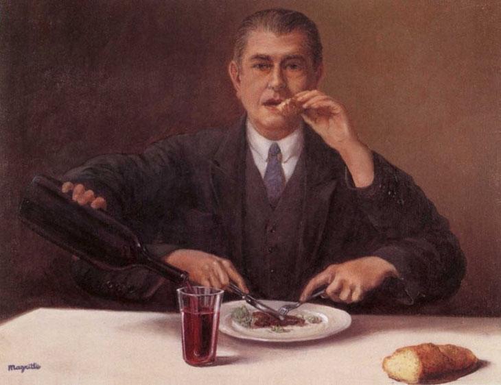 René Magritte - Le sorcier - 1951