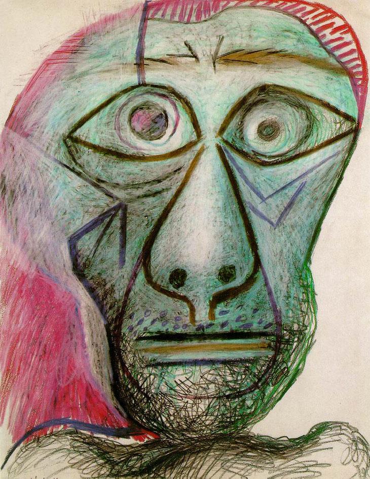 Pablo Picasso - Autoportrait face à la mort - 1972