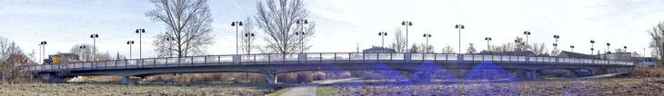 Hohenzollernbrücke im Zuge der Westtangente in Ansbach