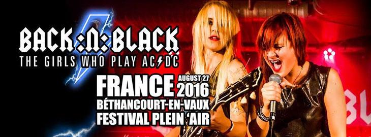 Annonce sur la page Facebook de Back:n:Black.