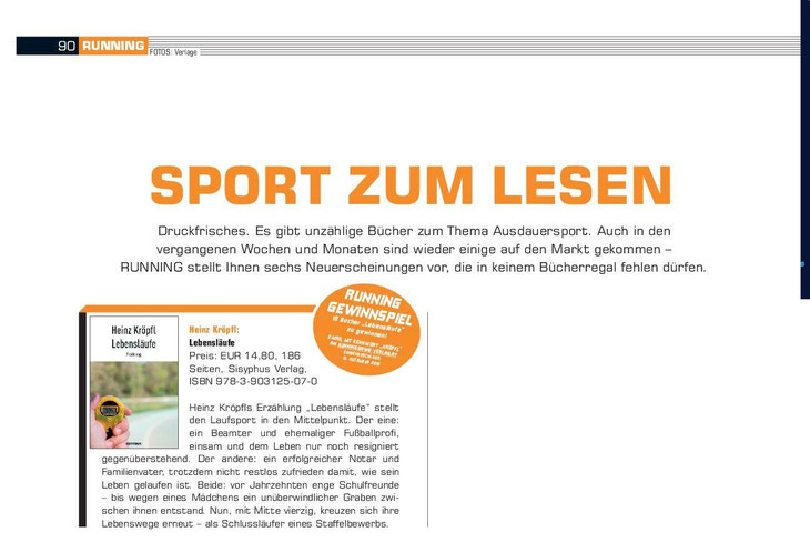 Buchvorstellung Heinz Kröpfl Lebensläufe Sisyphus Running und Fitness Laufmagazin
