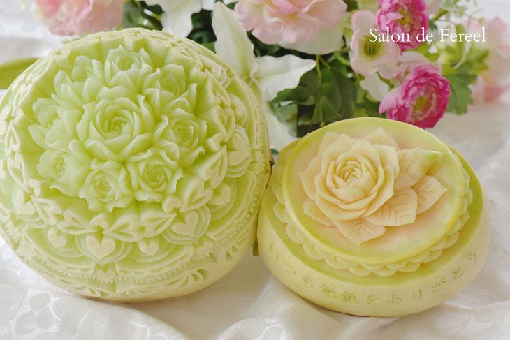 カービング スイカ メロン 教室 フルーツ 彫刻 大阪 オーダー 習い事 誕生日プレゼント 結婚式