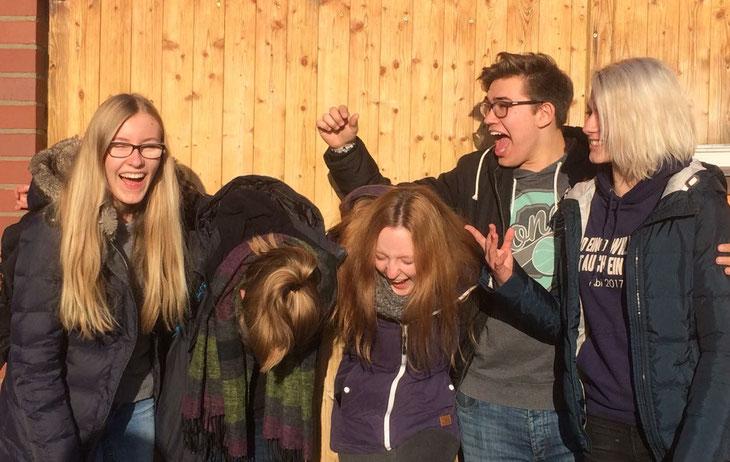 Johanna, Melina, Laura, Jörn und Neele