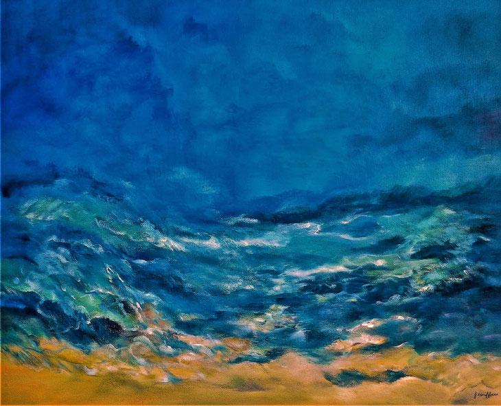 Glandore Ocean View - Oil on canvas 100 x 80 cm — in Glandore