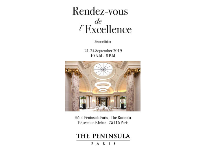 "Franck Chartrain Collection will be at ""Rendez-vous de l'Excellence"" / Franck Chartrain Collection sera présent aux ""Rendez-vous de l'Excellence"""