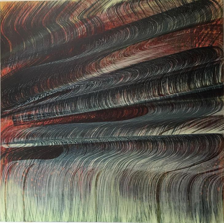 B1, 2016, Acryl/MDF, 100 x 100 cm