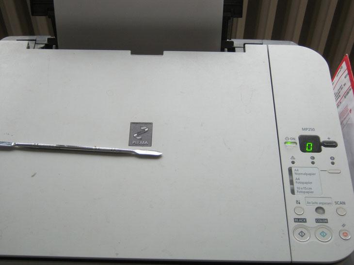 Farbtintenstrahlendrucker Canon MP250, Druckdüsen / Druckpatronen reinigen, Druckfehler 5200, Berlin Steglitz-Zehlendorf, Lichterfelde, Dahlem