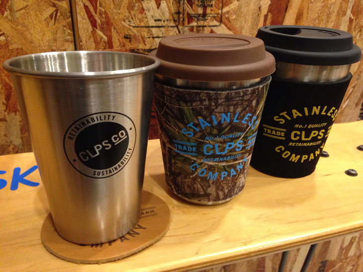 CupsCo(カップスコー)with Sleeve ¥3,240~3,450 Cup単品 ¥1,620 コースター ¥590