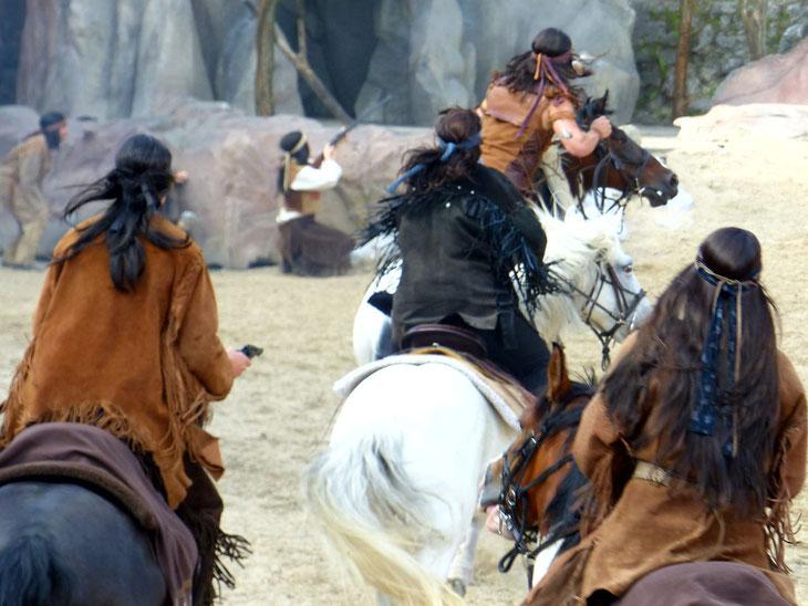 Reiterkomparsen bei den Karl-May-Spielen