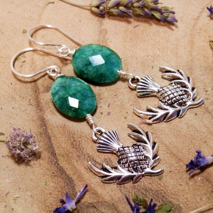 top 10 fantasy sieraden voor Outlander fans oorbellen met schotse distel