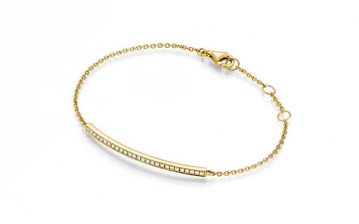 YDF Armband Gold und Weissgold mit 5 Brillanten