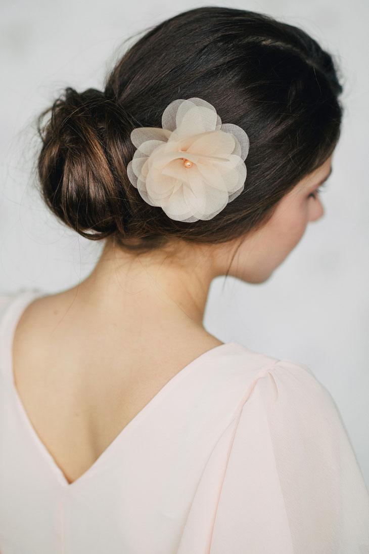 Braut Haarblüte Haarblume für Standesamt und Hochzeit 2019 Kopfschmuck Braut Trauzeugin Brautjungfer Hochzeitsgast Blumenmädchen