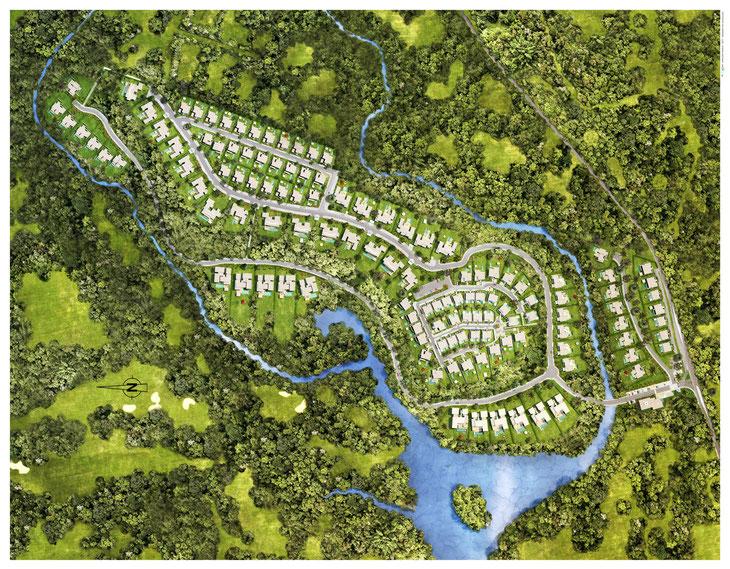 Plan de masse AKASHA PDS achat villas de luxe ile Maurice