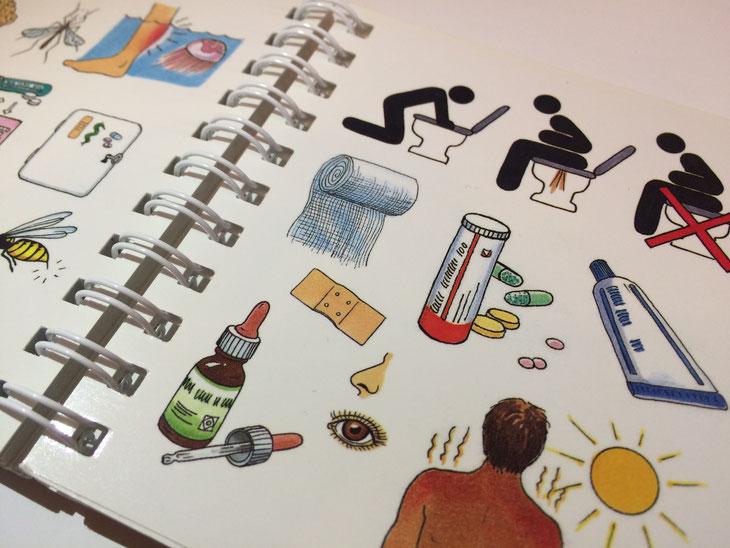 Krank im Ausland Reisekrankheit Apotheke Medikamente Reisemedizin Reisetabletten Krankheit