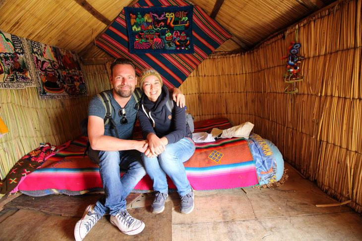 Weltreise Reiseblog Südamerika Puno Peru Titicacasee Uros Isla de la Uros Schwimmende Inseln