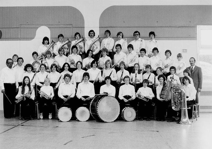 Musikverein Lautern, Jugendkapelle 1977