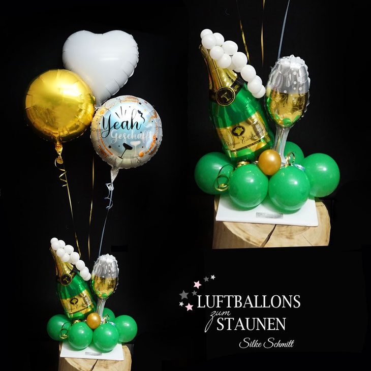 Luftballon Ballon Folienballon Geschenkballon Ruhestand Rente Herz Geschenk Idee Mitbringsel Überraschung Geldgeschenk Abschied Geld Versand Box Mitarbeiter Kollege