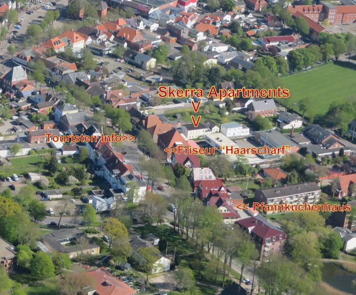 Luftaufnahme Zentrum Burg auf Fehmarn | © Fehmarn Air