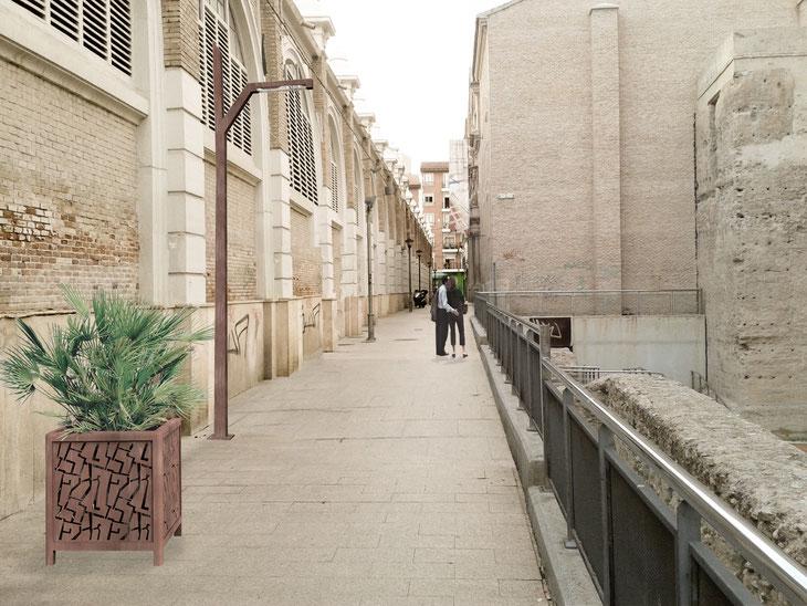 Francisco Guerao infografía de mobiliario urbano