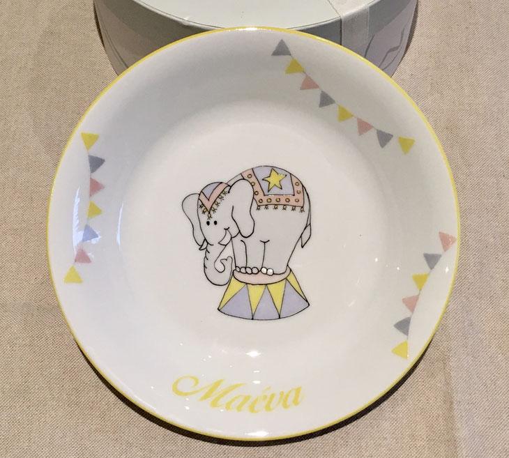 Assiette personnalisable éléphant