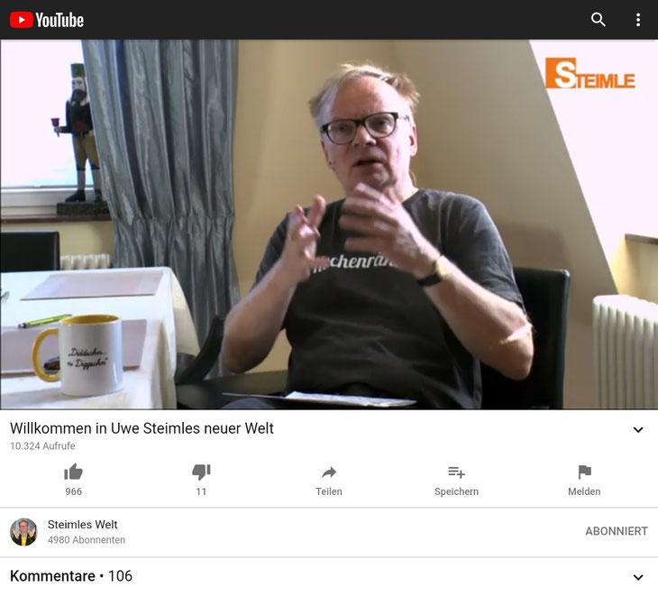Screenshot YouTube 29.11.2020