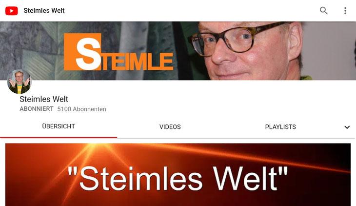 Neuer Kanal auf YouTube (Screenshot)