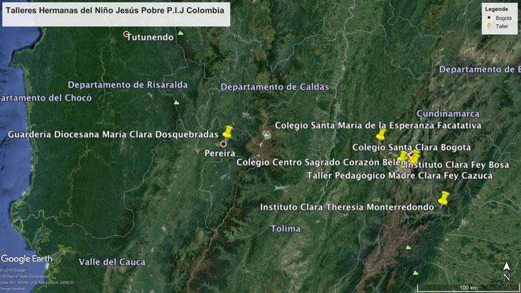 Monterredondo liegt im Südosten von Bogotá