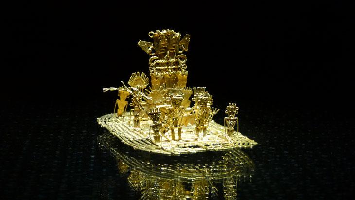 Der Besuch im weltberühmten Goldmuseum mit der Legende von Guatavita