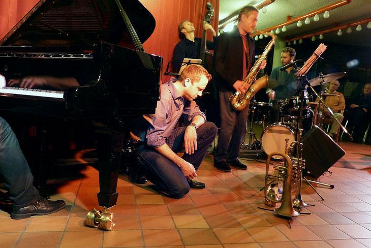 Peter Protschka, Martin Gjakonovski, Rick Margitza, Tobias Backhaus, 17.10.14, Foyer Ev. Gemeinde