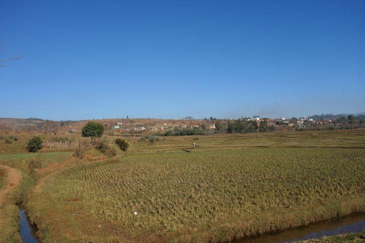 ドライブの途中で出会った農村エリア。どこか懐かしい、日本の原風景を思わせます。