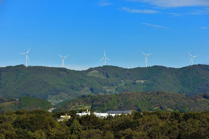 浜松風力発電所(北区滝沢町)風力発電2MW×10基