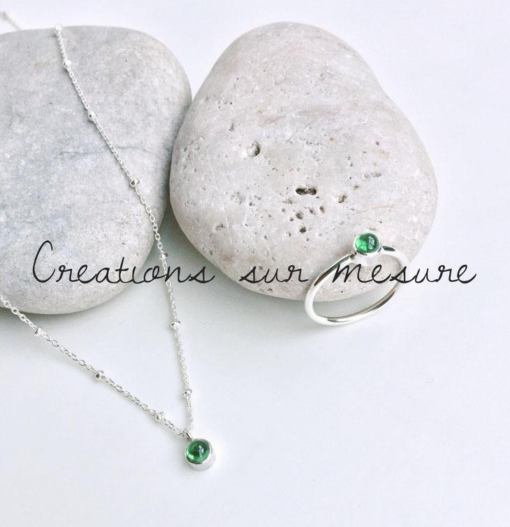 bijoux en argent et pierres gemmes naturelles