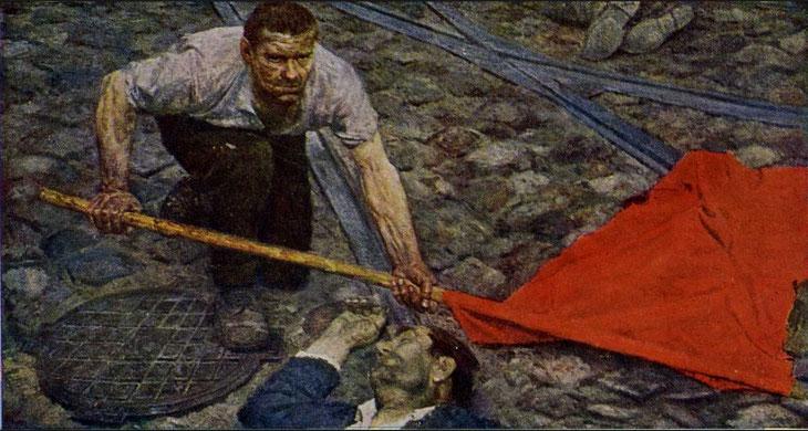 "G. Korzhev, ""Rialzando la bandiera"" (1960)"