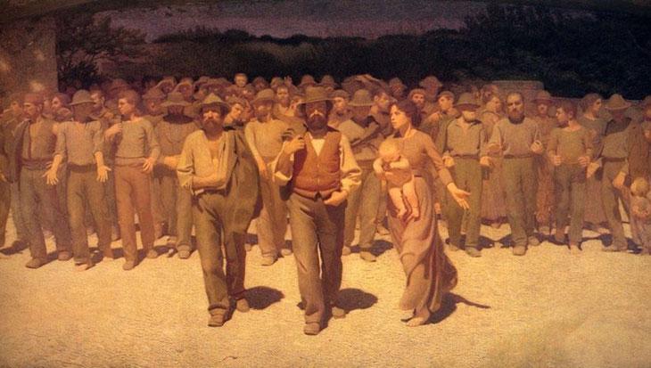 """Giovanni Pellizza da Volpedo, """"Il quarto stato"""" (1901)"""