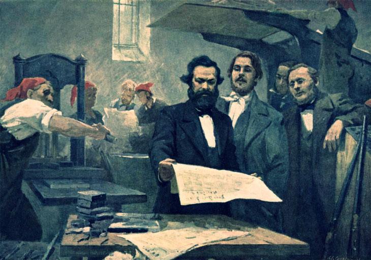 """E. Sapiro, """"Marx and Engels at the Neue Rheinische Zeitung"""""""