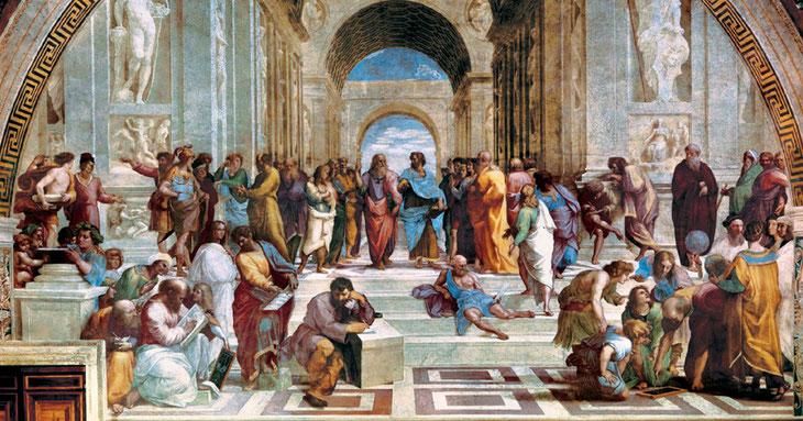"""Raffaello Sanzio, """"Scuola di Atene"""", 1509-1511"""