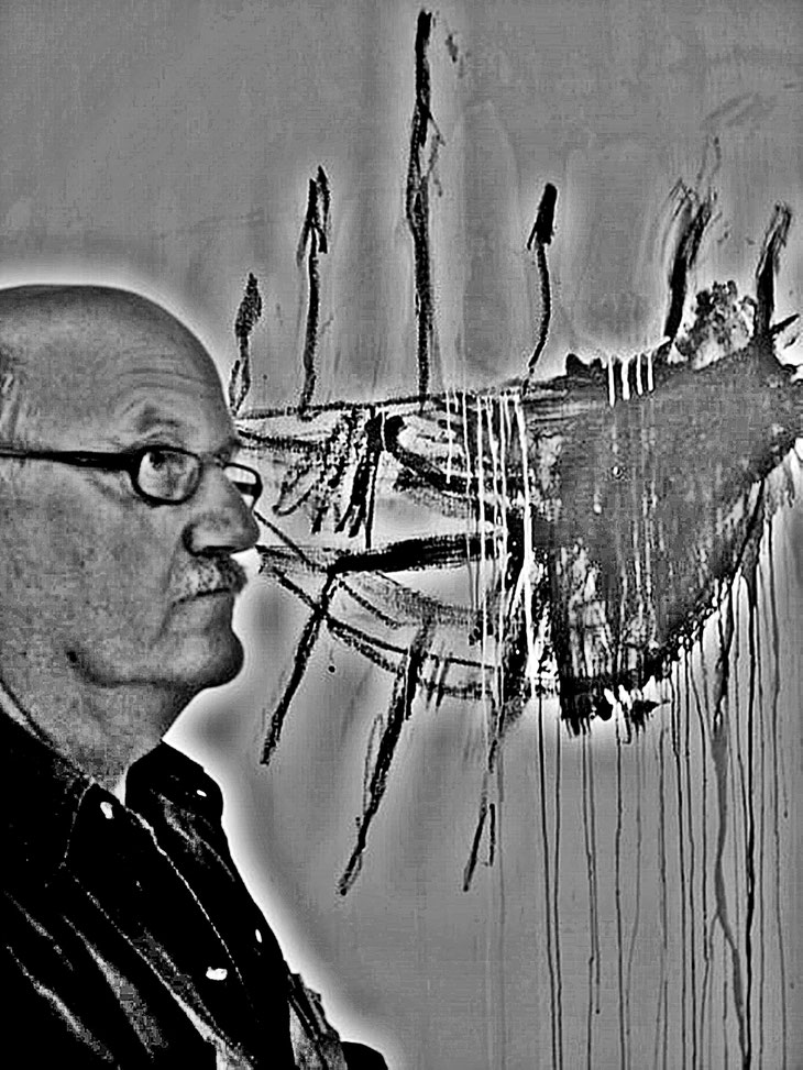 Cy Twombly – Pedro Meier Self portrait with ships Temeraire – William Turner – Art Gallery of New South Wales, Sydney Australia – »Selfie-Art-Project« 2005 © Pedro Meier Multimedia Artist Museum Visual Art Bangkok – FLUXUS DADA – SIKART Zürich Switzerland