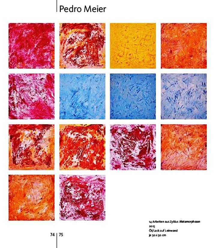 Pedro Meier – »90 jahre visarte Solothurn 1926–2016« – Buch / Publikation – Seite 2 / 3 – Pedro Meier Multimedia Artist Gerhard Meier Weg Niederbipp – Olten – Bangkok