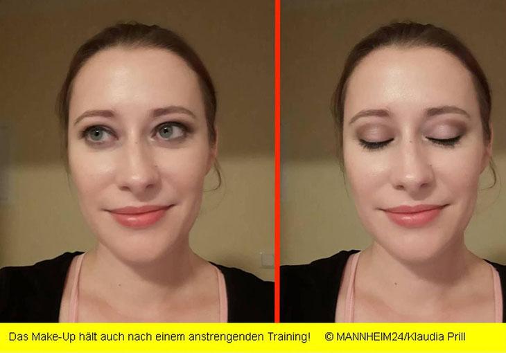 Styling bei Joël Style Mannheim – das Fazit - Das Make-Up hält auch nach einem anstrengten Training