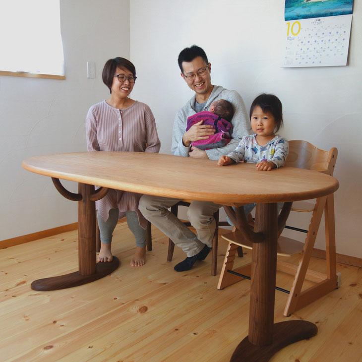 そら豆ダイニングテーブル&そら豆ダイニングチェア(相模原市・Y様邸)