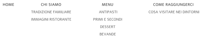 Esempio di menu di navigazione